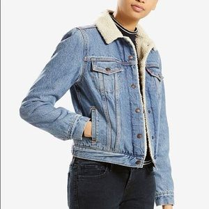 Jackets & Blazers - Levi's Denim Sherpa Jacket
